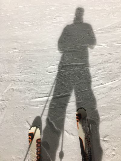 My Year My View Shadow Winter Sunlight Cold Temperature Focus On Shadow High Angle View Real People Outdoors Sport Long Shadow - Shadow Nature Snow Winter Sport Snowboarding People Lifestyles Leisure Activity Travel Destinations Night