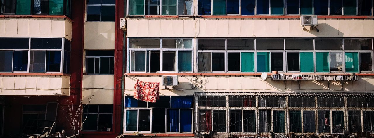 IPhone 7 Plus 男仔很忙 Architecture Building Exterior Built Structure Building Window No People Day Residential District Drying Outdoors City Sunlight Full Frame Clothesline Low Angle View Clothing Laundry Nature House Hanging