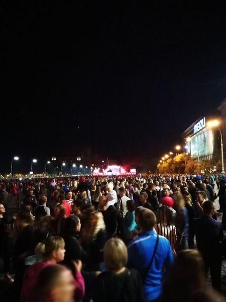 Birthday my Kharkiv city. Over 120 000 people Birthday Large Group Of People Music Festival Night Popular Music Concert Performance Nightlife Illuminated Celebration Ukraine, Kharkiv The Week On EyeEm 23.08.2017