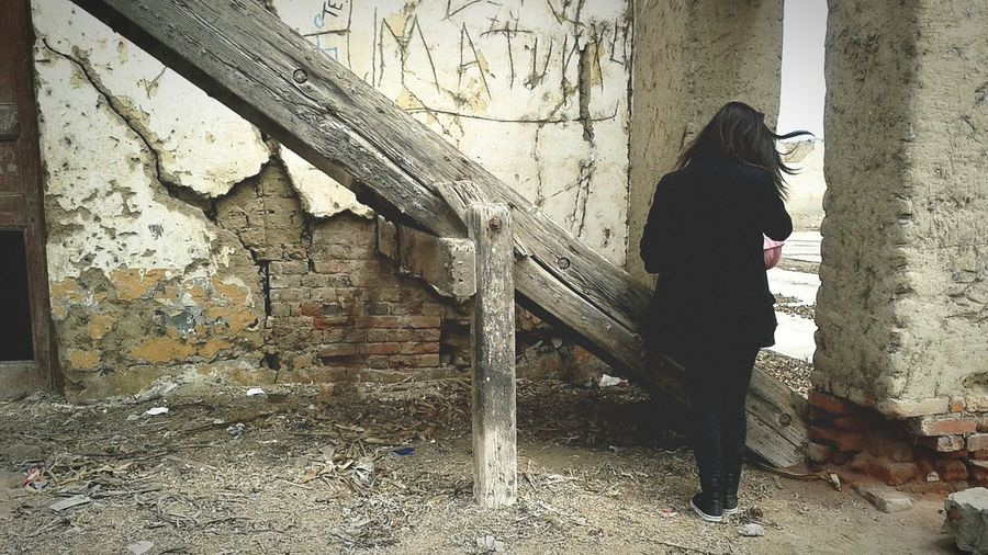 2014 Ancient Structure Ancient Streetphotography Street Dark Full Length Standing Men City Architecture Graffiti Vandalism