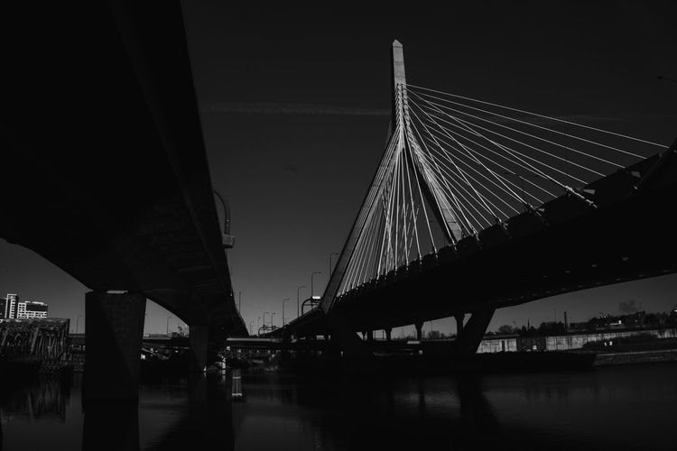 Zakim - Zakim Bridge Zakim Boston Boston, Massachusetts Bostondotcom Massachusetts New England  Bridge Bridges Bridge - Man Made Structure Bridgeporn Bridge View Bridgesaroundtheworld Bridge Over Water Bnwmood Bnw_planet Bnw_worldwide Bnwphotography Bnw_society Bnw_life Bnw_captures Bnw_collection Bnw Black&white Black & White