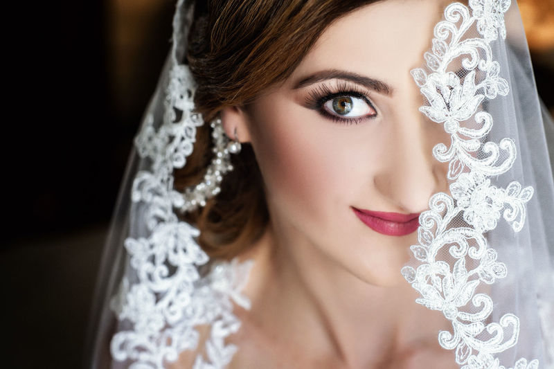Adult Beautiful Woman Beauty Bride Celebration Close-up Fashion Females Headshot Human Face Jewelry Looking At Camera Make-up One Person Portrait Veil Wedding Women Young Adult Young Women
