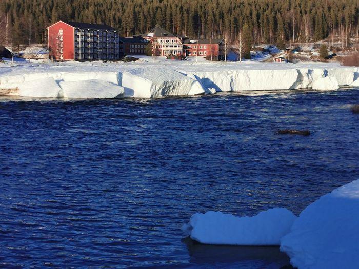 Frozen sea in winter