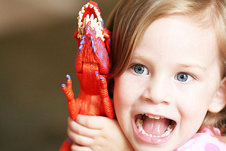 Child Childhood Close-up Dinosaur Girl Girls Human Body Part Looking At Camera One Person Roar