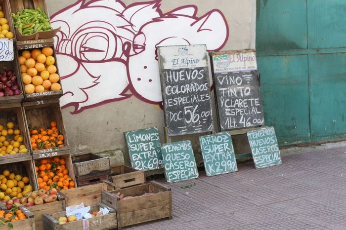 Beautifully Organized Market Food Price Tag For Sale Uruguay Montevideo Frutas Y Verduras Fruit