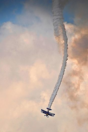 Mayday Airshow Airplane Flying Sky Smoke Plane Crash