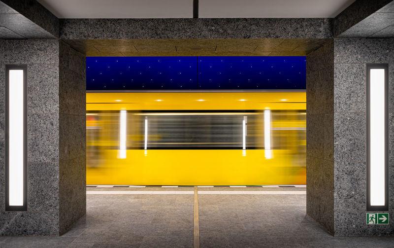 View of subway station platform