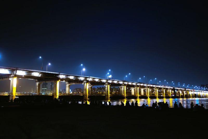 Liver Banpo Hangang Park Banpo Bridge Night Lights Hangang