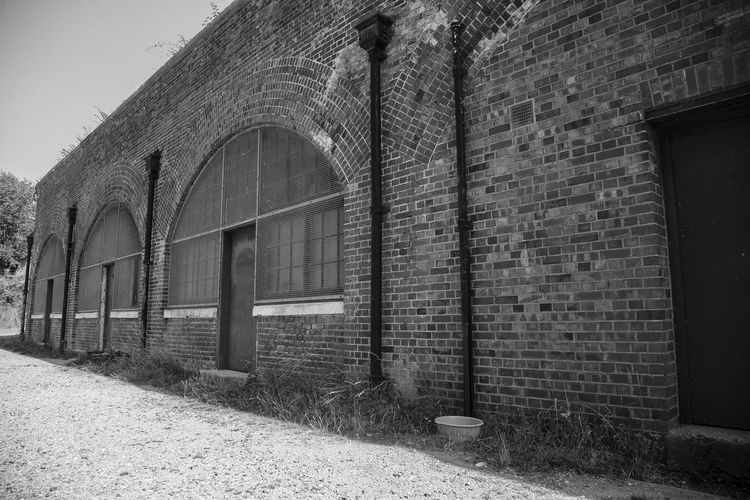 View of historic building hilsea lines ramparts fort in portsmouth united kingdom in black and white