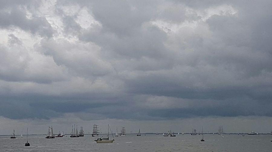 Tallships on their way to Delfsail 2016 Tallships Delfsail