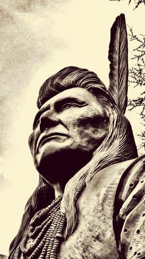 American Indian Native Native American Indian Native American Native Pride Chief Joseph Art Sculpture Statue Chief Joseph Trail Ride