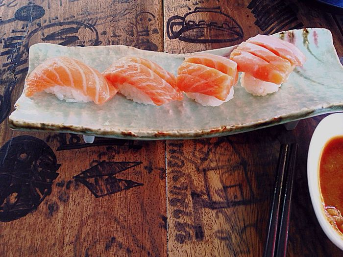 Food And Drink Food Freshness Seafood Healthy Eating SLICE Raw Food No People Indoors  Table Ready-to-eat Day Salmon Sashimi Salmon Sushi SalmonLove