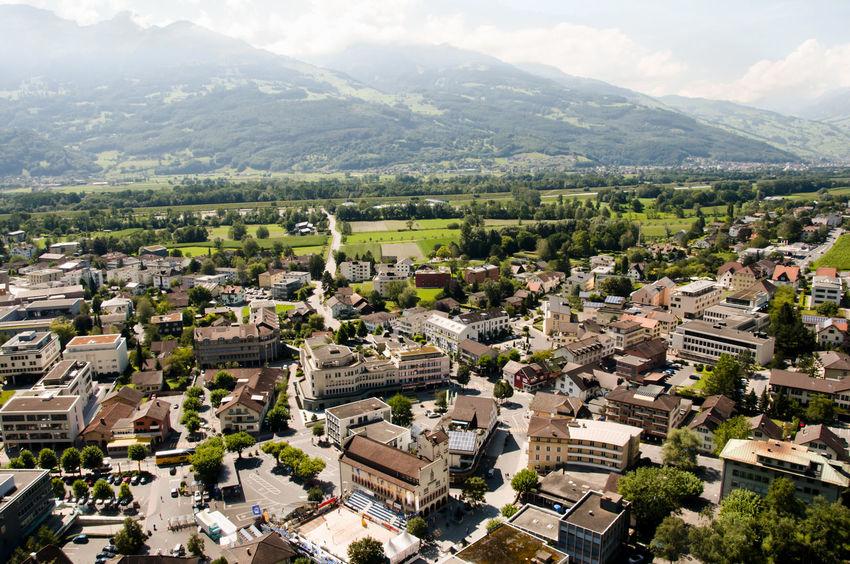 Vaduz - Liechtenstein City Vaduz Built Structure Cityscape Liechtenstein Mountain Residential Building Town