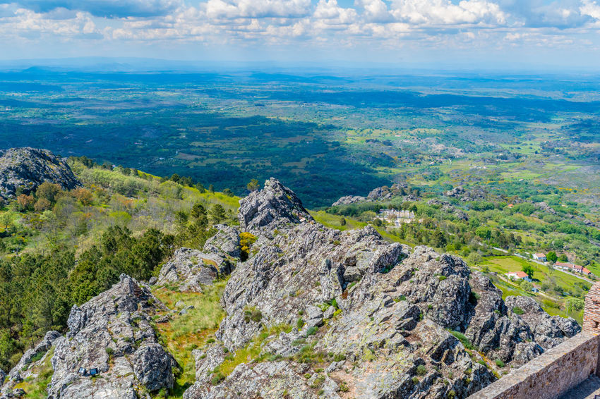 Castelo de Marvão Aerial View Architecture Beauty In Nature Cloud - Sky Day Environment Land Landscape Nature No People Outdoors Plant Rock Rock - Object Scenics - Nature Sky Solid Tranquil Scene Travel Destinations Tree