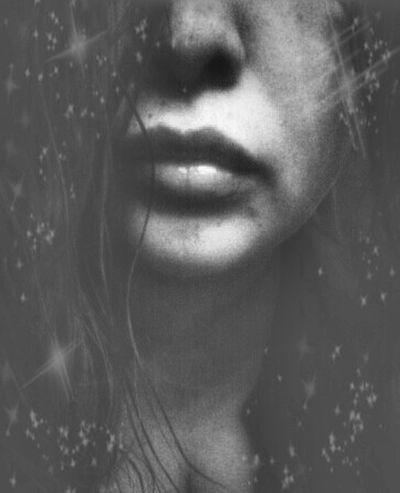 Beautiful Woman Human Lips Close-up Long Hair, Don't Care. Hair Poutylips Lips Skin Self Portrait NEM Self Portrait Of A Woman Soft&sensual Human Body Part Besos Kisses Blancoynegro