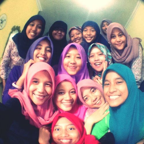 us... Beauty Redefined With Friends Smile :) Emotions Happiness Hijabbeauty Colorful Indonesian Hijabers Great Time Together First Eyeem Photo