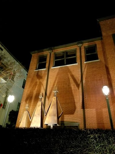 Art Sculpture Nightphotography EyeEmNewHere Night Illuminated Architecture Built Structure Low Angle View Outdoors Building Exterior