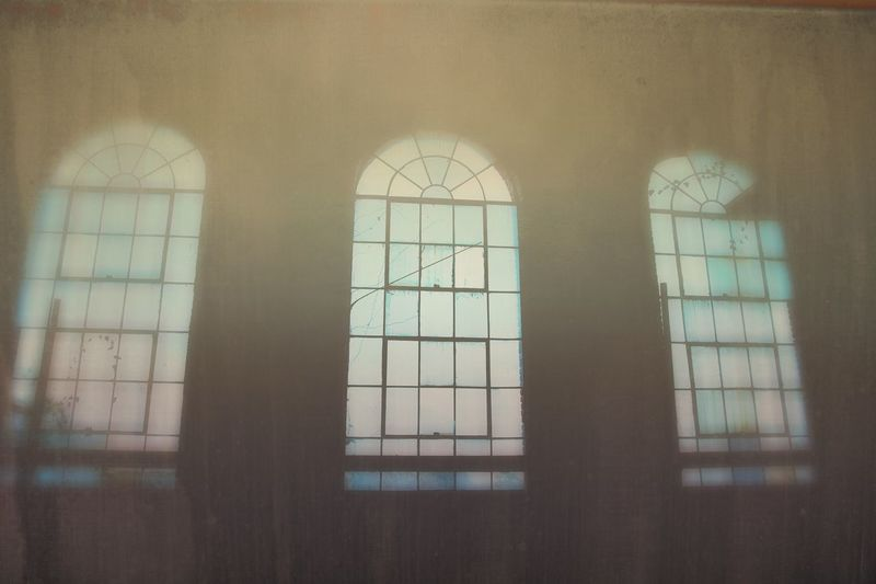 Window Indoors  Day No People Architecture Built Structure Close-up Windows Arched Windows Arches Factory Building Arch 3 Triple Faded Haze Faded_world Soft Focus Muted Colors Fade Faded Beauty Fading Light