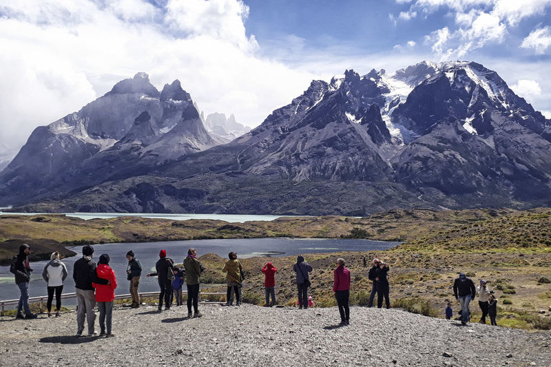 Mountain Sky Group Of People Beauty In Nature Scenics - Nature Mountain Range Real People Cloud - Sky Nature Leisure Activity Men Landscape Environment Day Lifestyles Non-urban Scene Large Group Of People Land Cold Temperature Outdoors Mountain Peak
