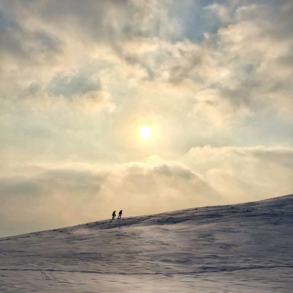 In the hill of the height EyeEm Nature Lover EyeEm Best Shots Winter Snow Hefei China Hills Hill Sky Nature Cloud - Sky Beauty In Nature Scenics Water Silhouette Sunset Real People People Adventures In The City