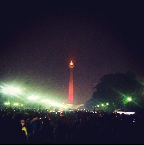 Monas Monumen Nasional Jakarta, Indonesia Happy New Year Happy New Year 2015 2015🎁🎉 2015  2015 🔥 Hello 2015
