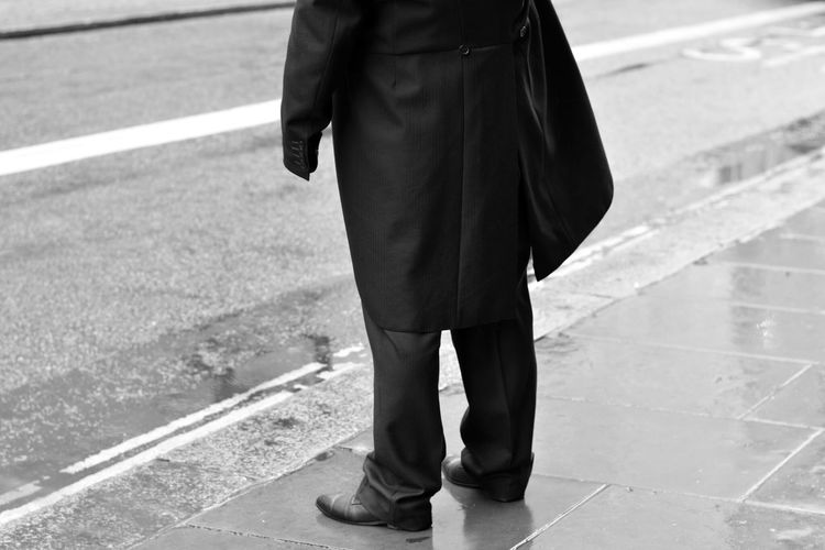Black And White Monochrome Street Photography Walking In London Walking In The Street Take Photos From My Point Of View Capture The Moment One Person Waiting Standing Road Low Section Real People Street London Streets City City Street City Life London EyeEm Gallery Eye4photography  Lifestyles