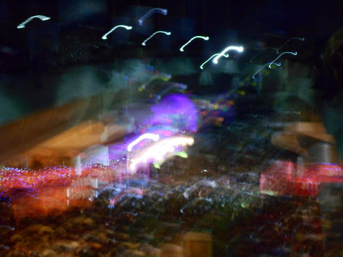 Blurry Festival From The Rooftop Multi Colored Night No People Outdoors Public Gathering