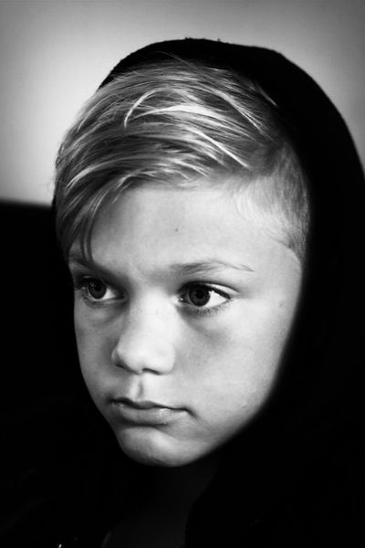 One Person Headshot Close-up Portrait Human Face Real People Indoors  Day Child Childphotography Childportrait Boy Blackandwhite Photography Blackandwhite Childhood Hood Blond Hair Child Only One Boy Only The Portraitist - 2017 EyeEm Awards The Week On EyeEm