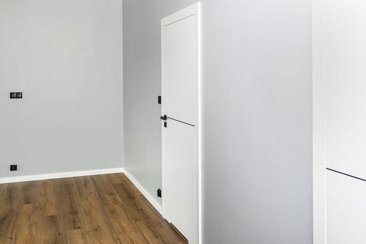 View of white wooden door