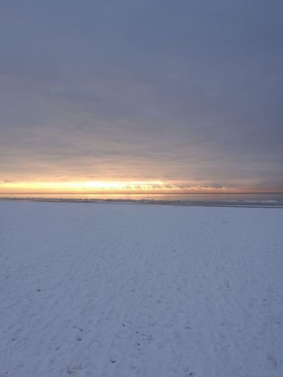 Shades Of Winter Beauty In Nature Sunset Tranquility Majestic Beach Extreme Terrain Blue Non-urban Scene Sea Day Nature Horizon Over Water Outdoors Clear Sky