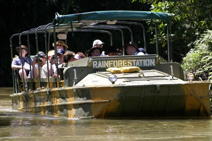 Tourists in Rain Forest Station amphibious craft - Cairns, Australia Amphibious Boat Amphibious Vehicle Cairns, North Queensland, Australia Day Leisure Activity Lifestyles Men Nature Nautical Vessel Outdoors People Rain Forest Rain Forest River Real People Transportation Tree Water Let's Go. Together.