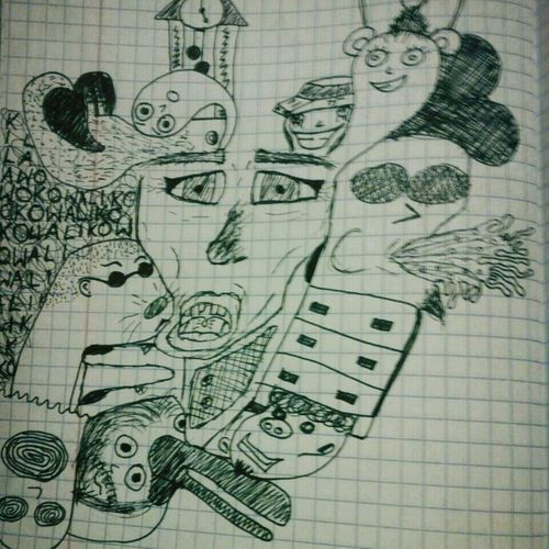 Out Of Boredom Black & White Boredom Strikes >.< Art, Drawing, Creativity
