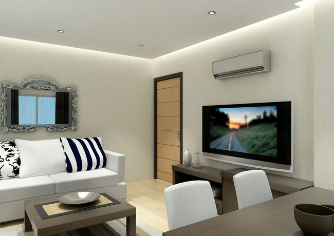 3d Render of Living Room Air Conditioner SOFA TIME Architecture Chair Comfortable Day Domestic Life Domestic Room Empty Flat Screen Furniture Home Interior Home Showcase Interior Indoors  Liquid-crystal Display Living Room Living Room View Luxury Modern No People Seat Sofa Table Television Set Tv