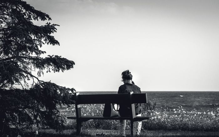 Real People One Person Outdoors People Bench Bench With A View Point Of View View Blackandwhite B&w Tree Monochrome Monochromatic Canada Toronto Park Park Bench Resting Relaxing Caught The Moment Sitting Outside Sitting Woman Woman Portrait Looking Away