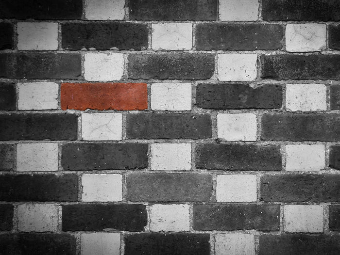 Another Brick in the Wall Another Brick In The Wall Barry Murphy Brick Wall Nearly Mono Backgrounds Brick Full Frame No People First Eyeem Photo