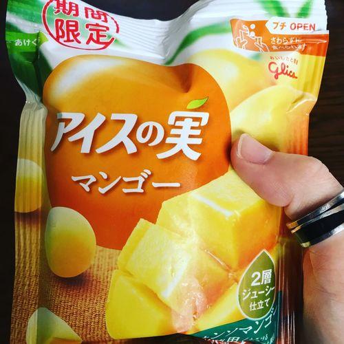 りゅうさんにおしえてもらった みちゃき アイスの実 マンゴー味 うまうま♡ 期間限定♡ おすすめ♡ 暑い時最高(๑¯∇¯๑)