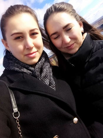 Warm Clothing Young Women Friendship Togetherness Women Cold Temperature Winter Bonding Portrait Snow