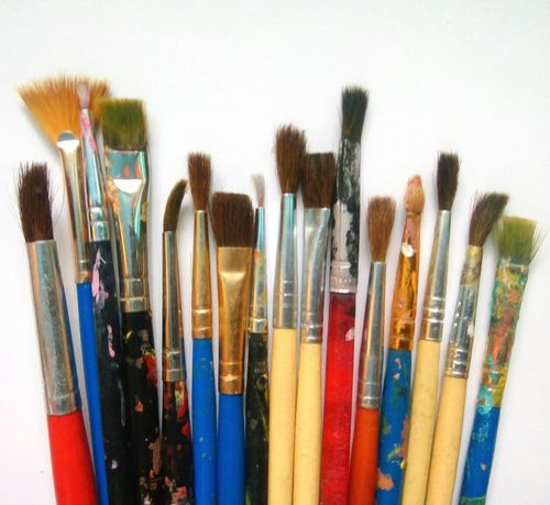 My Artist side Paintbrush No People Variation Choice Paint Large Group Of Objects Multi Colored Indoors  Close-up Day