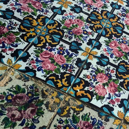 EyeEmBestPics ArtWork Details Wall Decoration Museum Tehran Colors Architectural Detail Persian Architechture Golestan Palace Persian Style ArchiTexture Architecture_collection Tile Work Tile Ancient Tile Art Color Palette