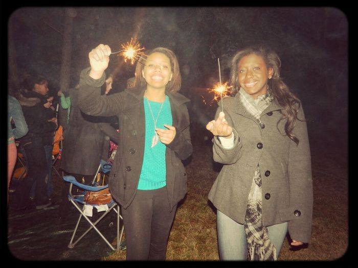 Sparklers With Bestfriend (: