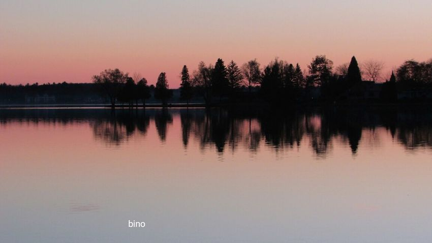 Dusk Around The Lake No People Silhouette Tranquility So Quiet And Peaceful Pink Color Lake Cadillac Pure Michigan
