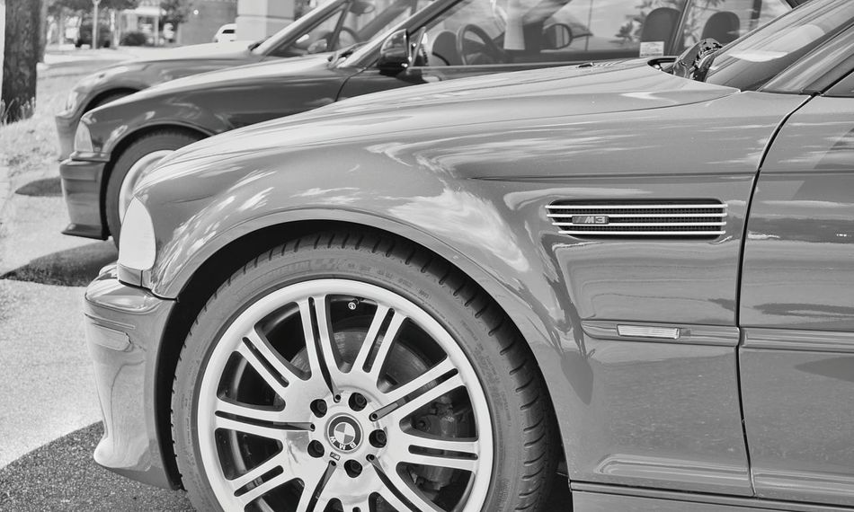 3 Transportation Car Mode Of Transport Land Vehicle Wheel Travel Tire Outdoors No People Horizontal Collector's Car LINE Streetphotography Monochrome Photography German Cars Field Of Depth Rims German Engineering Focus On Foreground Three Greenville, SC