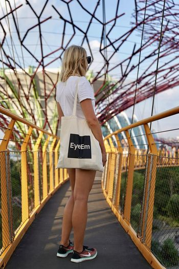 EyeEm Fashion Woman Barrier Beautiful Woman Blond Hair Botanical Garden Bridge Built Structure Casual Clothing Day Fashion Full Length Hair Hairstyle Leisure Activity Lifestyles One Person Outdoors Railing Real People Standing Women Young Adult Young Women The Great Outdoors - 2018 EyeEm Awards The Traveler - 2018 EyeEm Awards The Portraitist - 2018 EyeEm Awards The Architect - 2018 EyeEm Awards The Fashion Photographer - 2018 EyeEm Awards The Street Photographer - 2018 EyeEm Awards Capture Tomorrow