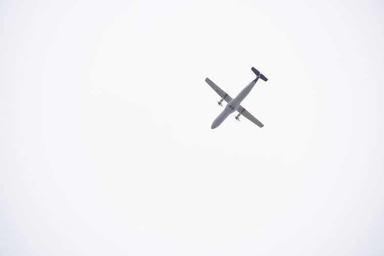 Flying plane Airplane Flying Transportation Airshow Air Vehicle No People Aerospace Industry Fighter Plane Aerobatics Outdoors Day Sky Jet Plane White Sky Background Plane Flying Aeroplane Aeroplane In The Sky Flying Objects Flying Objects Minimalism Be. Ready. A New Beginning
