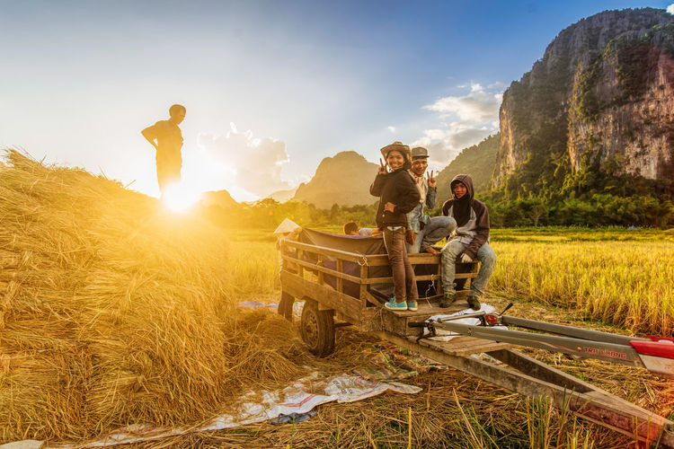 Farmers - Vang Vieng, Laos