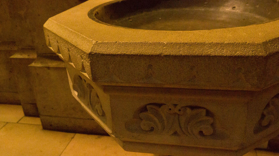 Place Of Worship Spirituality Worship Baptismal Font Church Architecture Close-up No People Worship Place Worship Places