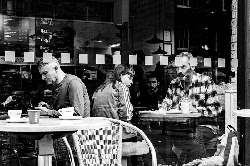 The assasins live Streettogether Jj_streetshots Londonbylondon Cafe Sitting Store Window Shop