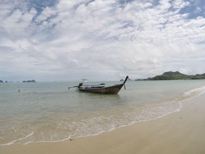 Boat anchored at beach