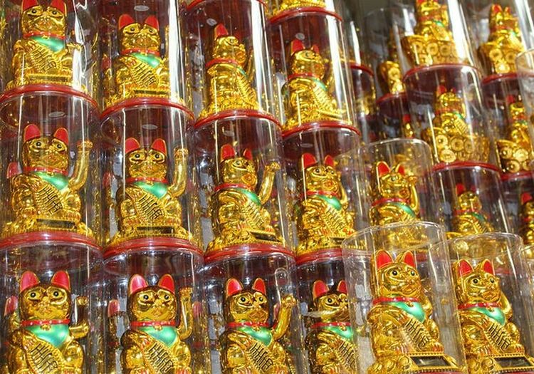 Golden Lucky Cat Chinese China