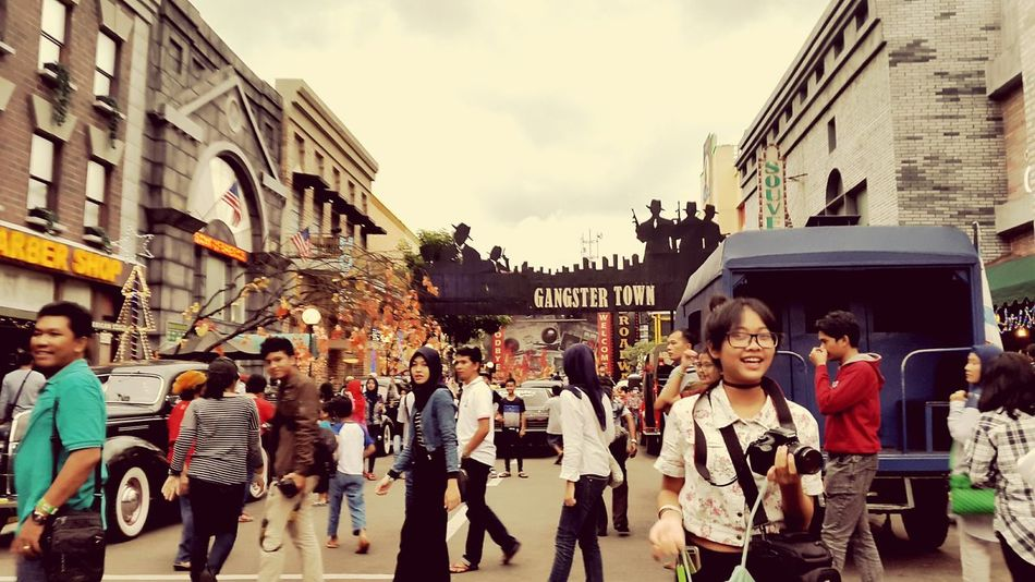 Pasar Apung Sky Day Outdoors City Beauty In Nature Eyeemindonesia Real People Child People Large Group Of People Adult